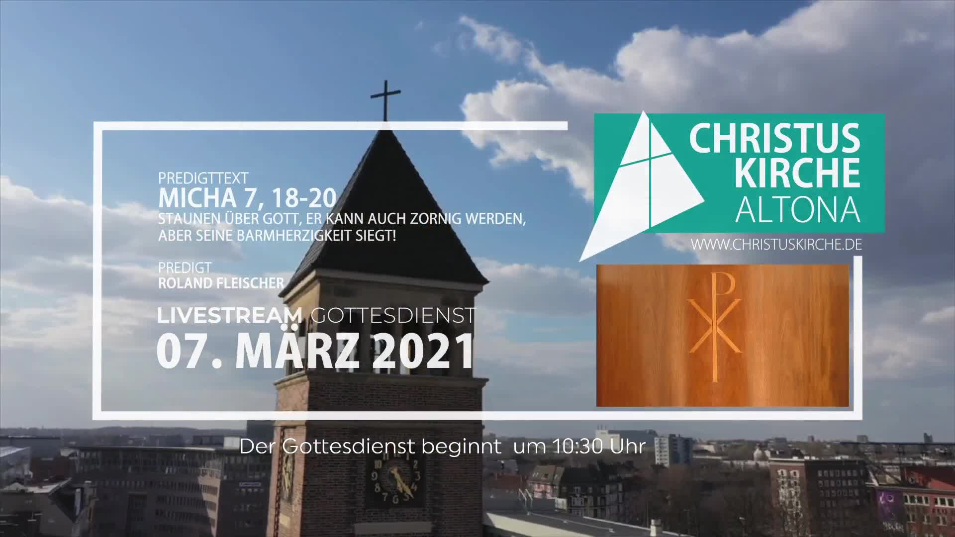 Gottesdienst am 07. März - Livestream aus der Christuskirche Altona