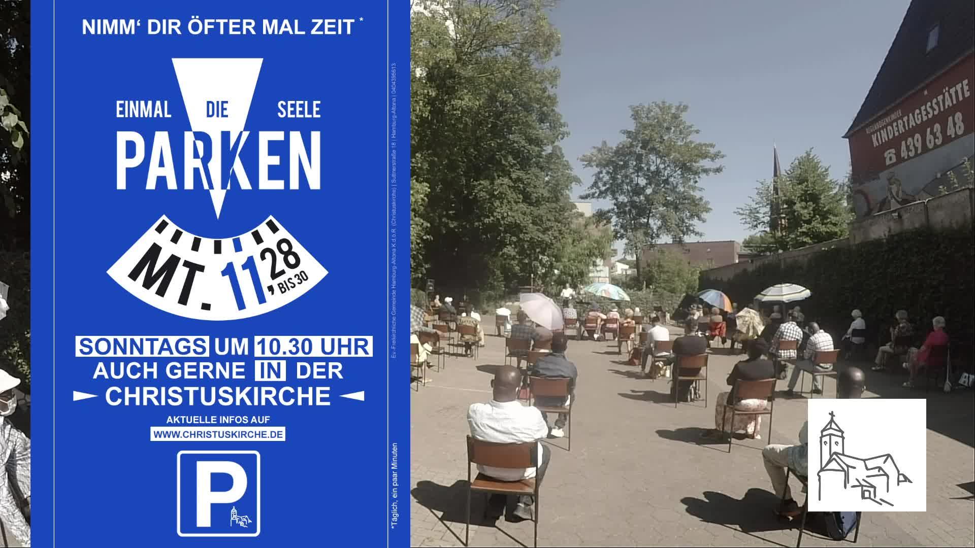 ParkplatzGottesdienst aus der Christuskirche Hamburg Altona 21. Juni - Teil 2
