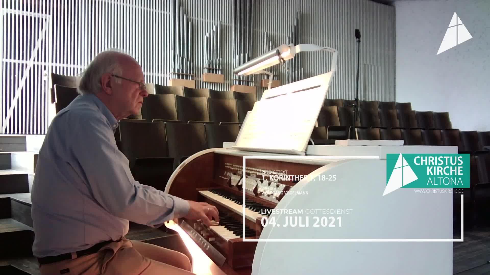 Gottesdienst - am 4. Juli - Livestream aus der Christuskirche Altona