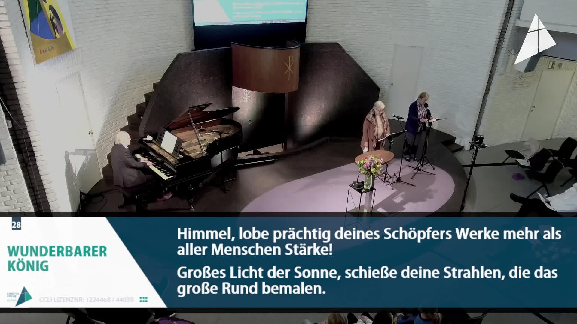 Gottesdienst - am 17. Oktober - Livestream aus der Christuskirche
